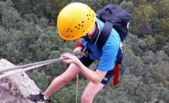 Student absailing in secondary curricular sport program