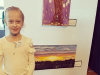 Amelia Thompson at Art Exhibition