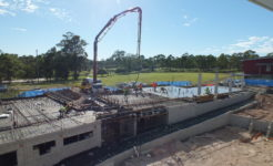 History photo, middle school construction