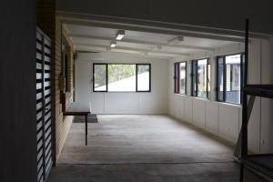 Inside of art balcony