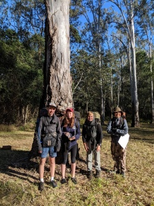 Group of students on expedition