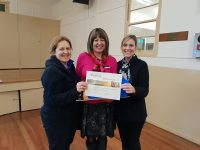 Childcare Centre presented a certificate from Councillor Denise Simms