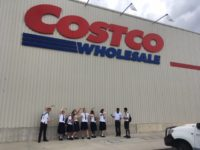 Business class in front of Costco