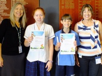 Councillor Sims and students