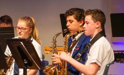 Music students performing