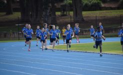 Students running in Secondary Co-curricular activities