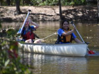 Students canoeing in Adventure Race