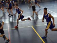 Northpine students playing basketball