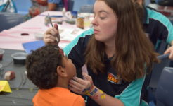 Student face painting