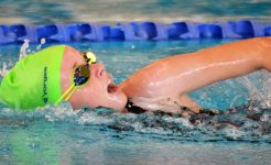 Student competing in swimming carnival