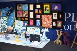 Art display at Open Night