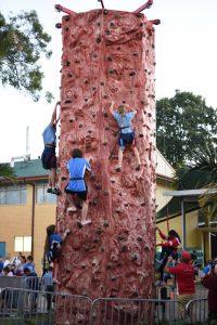 Climbing wall at Open Night