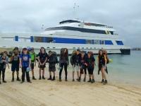 D of E students on Moreton Island