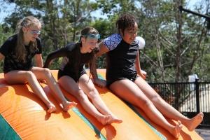Year 6 camp water slide
