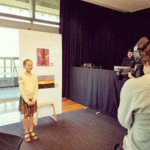 Amelia at Art Exhibition