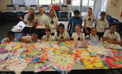 Students in Challenge textiles