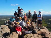Year 8 students climb on top Mt Ngungun