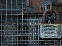 Padlock representing being trapped