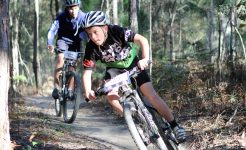 Student mountain biking